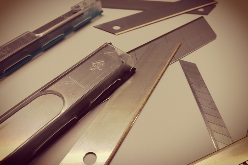 Spare blades for your cutting knives replacements